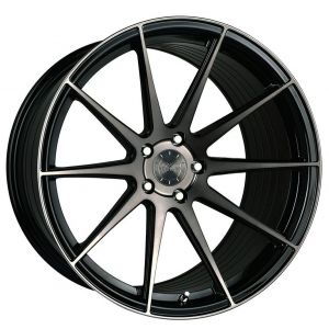 20x11 Vertini RF1.3 Gloss Black Tinted Face (Rotary Forged)