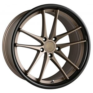 - Staggered full Set -(2) 20x10 Vertini RF1.5 Satin Bronze w/ Gloss Black Lip (Rotary Forged)(2) 20x11 Vertini RF1.5 Satin Bronze w/ Gloss Black Lip (Rotary Forged)