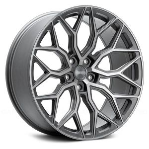 Staggered full Set -(2) 22x10.5 Vossen Hybrid Forged HF-2 Tinted Matte Gunmetal (Flow Formed)(2) 22x12 Vossen Hybrid Forged HF-2 Tinted Matte Gunmetal (Flow Formed)