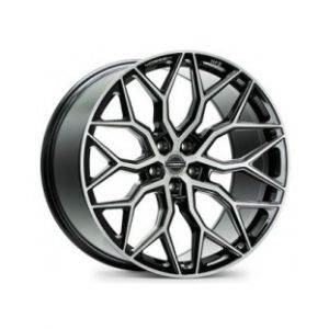 22x11 Vossen Hybrid Forged HF-2 Brushed Gloss Black (Flow Formed)
