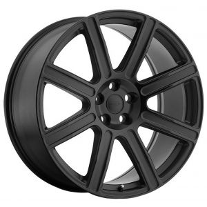 20x9.5 Redbourne Wilks Matte Black w/ Gloss Black Face
