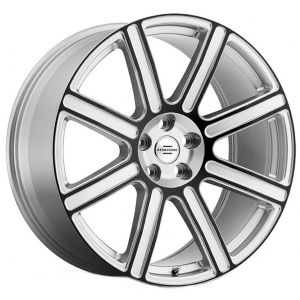 22x10 Redbourne Wilks Gloss Silver w/ Black Face