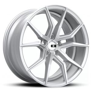 - Staggered full Set - (2) 19x10 XO Verona Matte Silver w/ Brushed Face(2) 20x11 XO Verona Matte Silver w/ Brushed Face