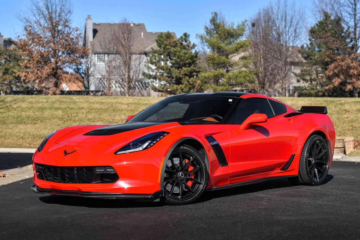 Cray Cray Spider Wheels on Chevrolet Corvette C7