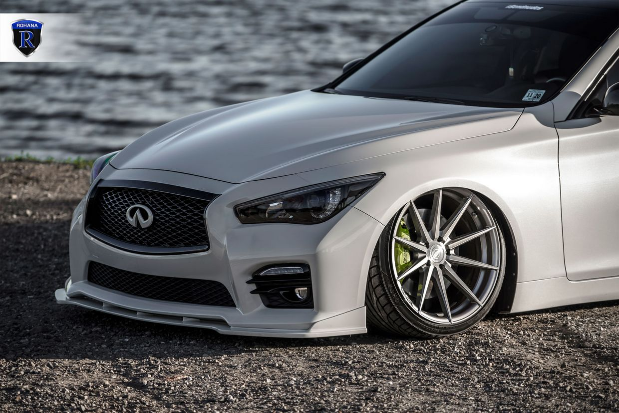 Rohana RF1 Brushed Titanium on 2016 Infiniti Q50