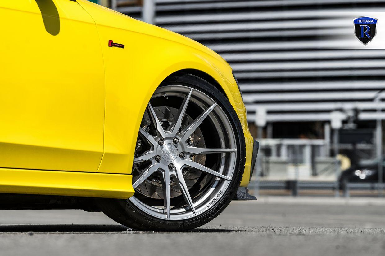 Rohana RF2 Brushed Titanium on Audi S4