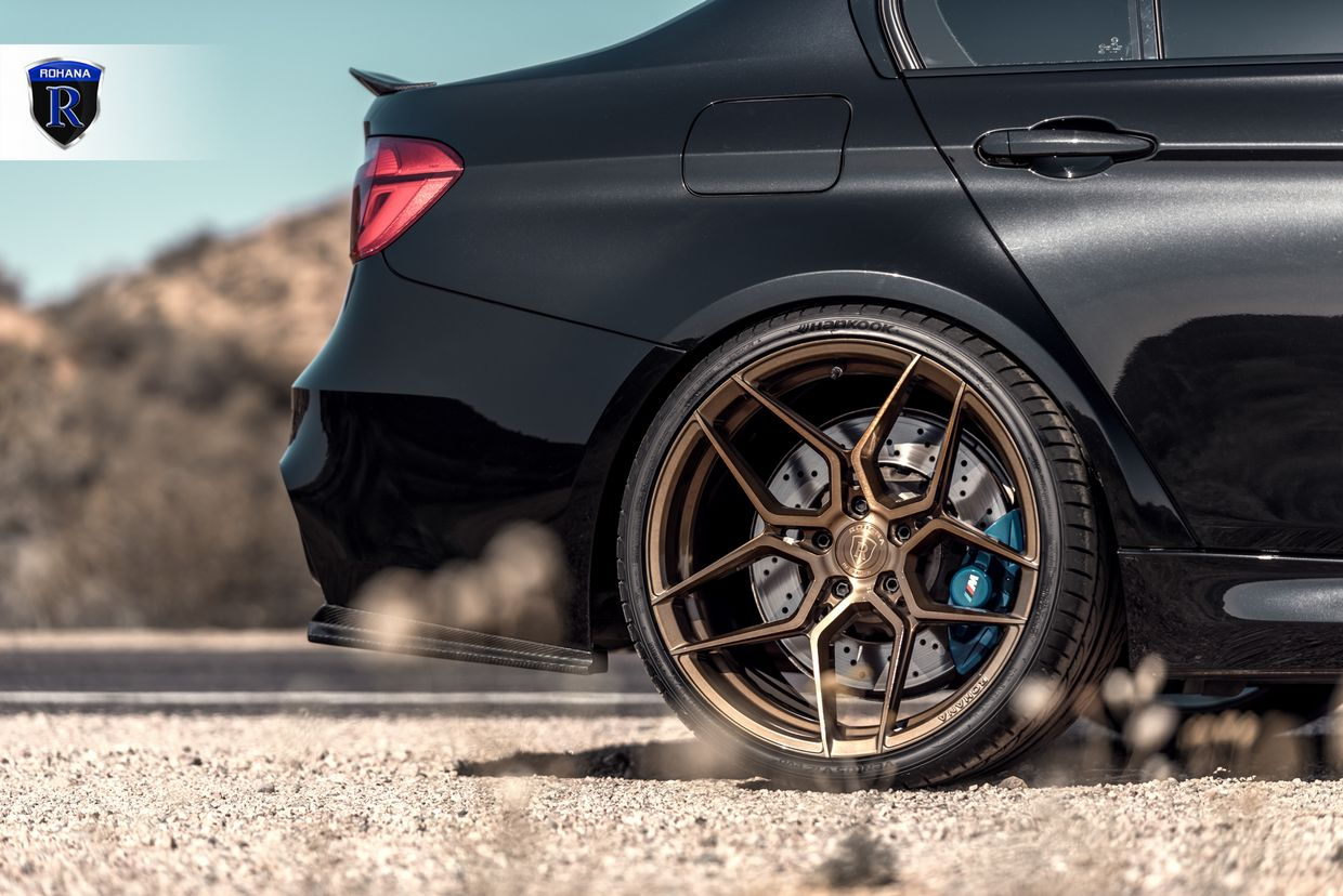Rohana RFX11 Brushed Bronze on BMW F80 M3