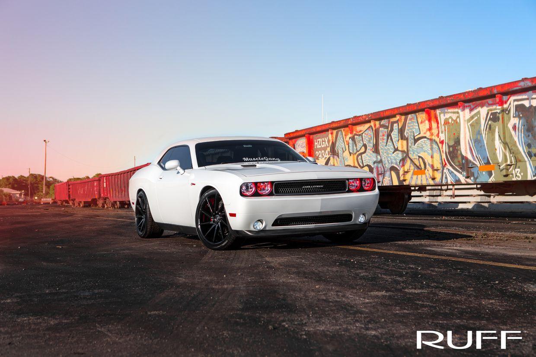 Ruff Ruff Wheels on Dodge Challenger