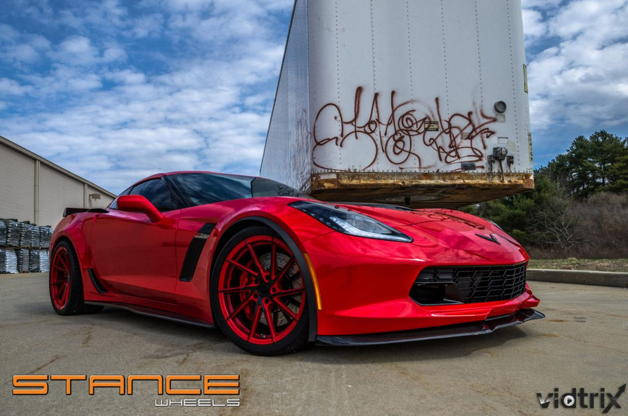Stance SF01 on Chevy Corvette