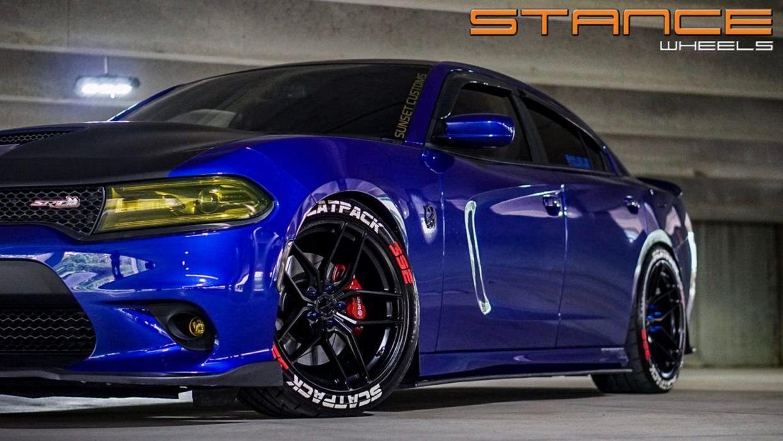 Stance SF03 Satin Black on Dodge Charger