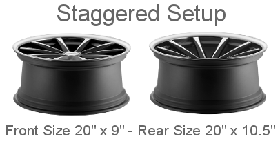 Staggered Wheel setup